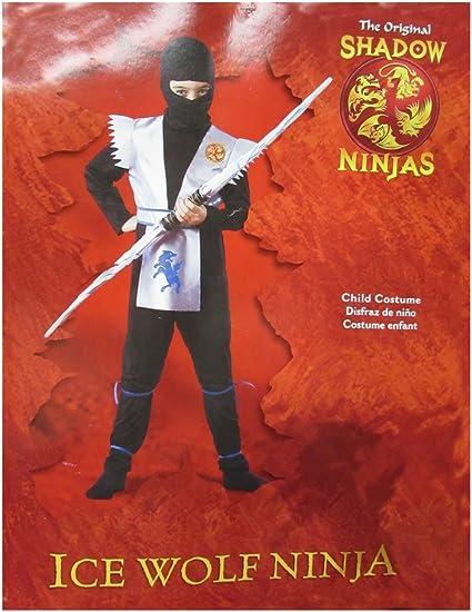 Amazon.com: Disguise Boys Ice Wolf Ninja Child Costume ...