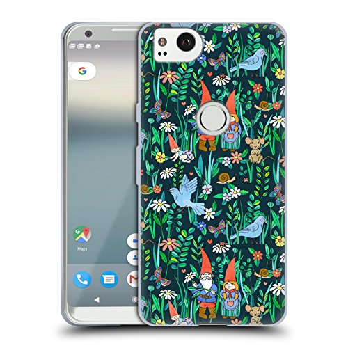 Official Micklyn Le Feuvre Gnome Family Love Patterns 5 Soft Gel Case for Google Pixel 2 ()
