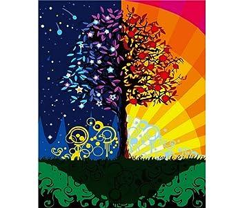 Ymx Diy Family Vier Jahreszeiten Baum Traum Malen Nach Zahlen