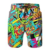 Beachs Graffiti Hip-hop Colorful Mens Boardshorts Swim Trunks Men Gym Board Shorts