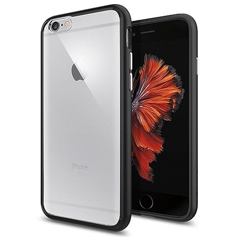 Spigen iPhone 6S Hülle, [Ultra Hybrid] Luftpolster-Technologie [Schwarz] Durchsichtige Rückschale und TPU-Bumper Schutzhülle