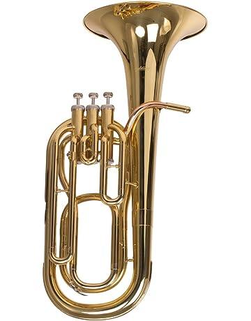 Sporting Basstrompete Marching Bariton Mit Koffer Und Mundstück Gold