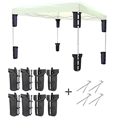 Explore Land Weight Bag for Portable Pop-up Canopy Tent Gazebo Outdoor Up to 30 lb, Without Sand (8, Black) : Garden & Outdoor