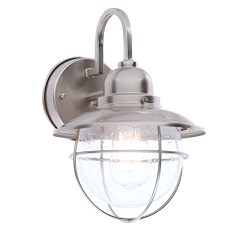 Hampton bay boa1691h bn 1 light outdoor cottage lantern brushed hampton bay boa1691h bn 1 light outdoor cottage lantern brushed nickel aloadofball Choice Image