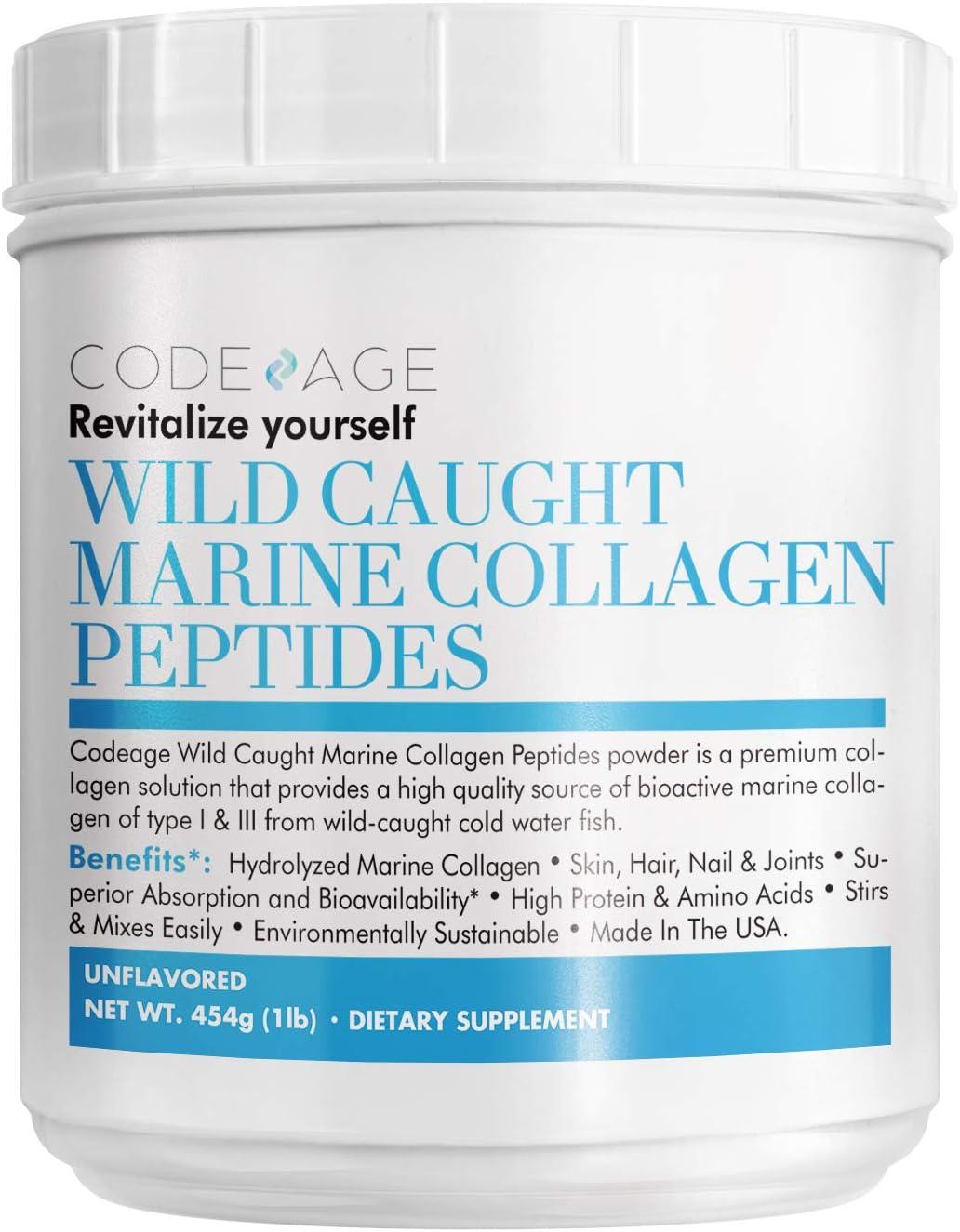 Code Age Polvo De Colágeno Marino Antienvejecimiento Premium 16 Oz ...