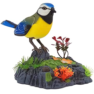 Hegaed Singing Chirping Birds Toy Voice Control Realistic Sounds Movements Kids Electronic Pet Toys Gifts: Toys & Games