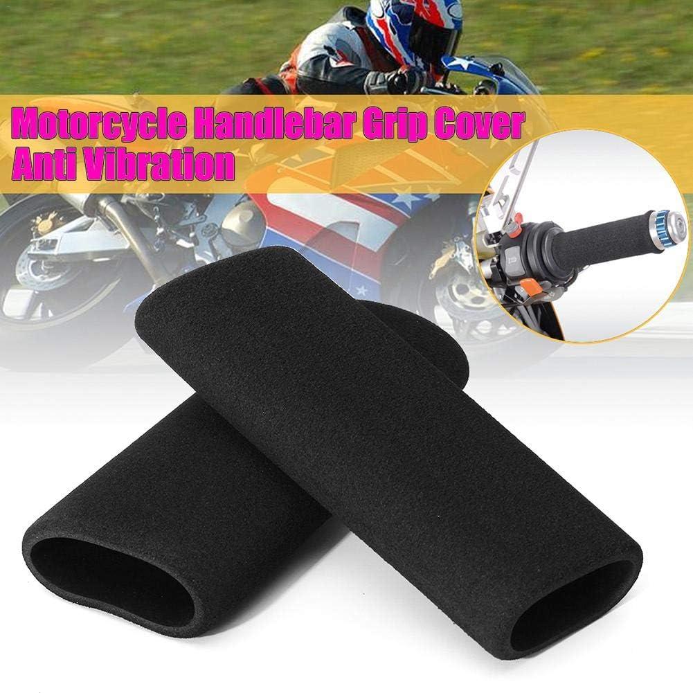 Moto /à Enfiler en Mousse Anti Vibration Poign/ée Confortable Cove Gereton 2/pcs Moto Guidon Grip Coque