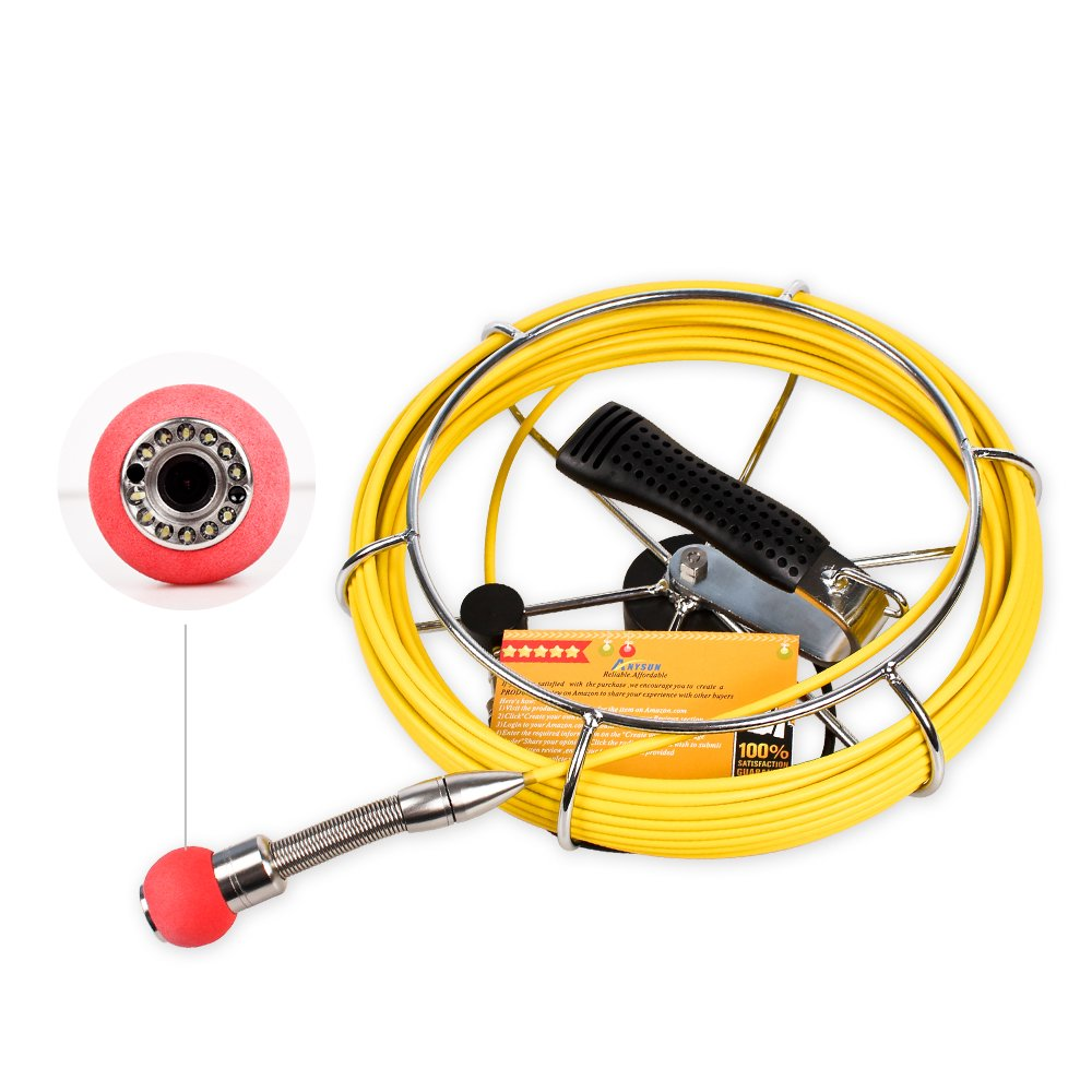 Pipe Sewer Inspection Camera Anysun Waterproof IP68 20M Cable for PIC30 PIC20 by Anysun (Image #2)