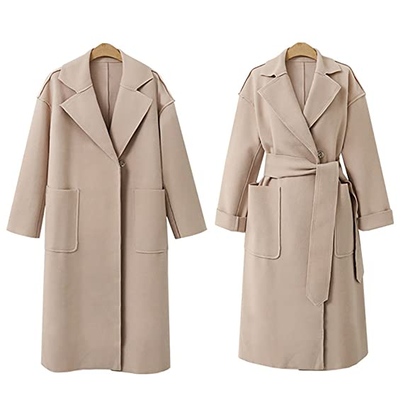 Amazon.com: VESNIBA Women Long Sleeve Oversize Loose Cashmere Woollen Jacket Cardigan Coat Overcoat: Clothing