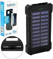 Carregador Power Bank Solar Portátil Universal com lanterna de LED 8000mAh Real PB-S80