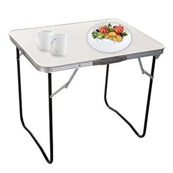 Binghotfireuk Mesa Plegable Portátil de Aluminio para Picnic/al Aire Libre, Fiesta, Comedor