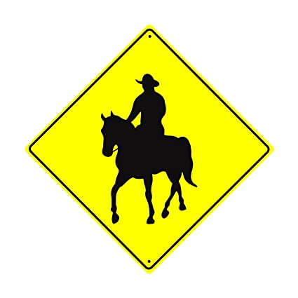 Amazon.com: Cowboy Crossing Farm Ranch Animal Horse Ride Caution ...
