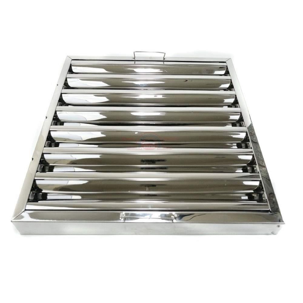 Filtro lamas acero inox campana extractora bar industrial 49 x 49 x 5 cm.