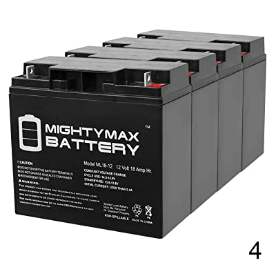 Mighty Max Battery ML18-12 - 12 Volt 18 AH SLA Battery - Pack of 4 Brand Product: Home & Kitchen