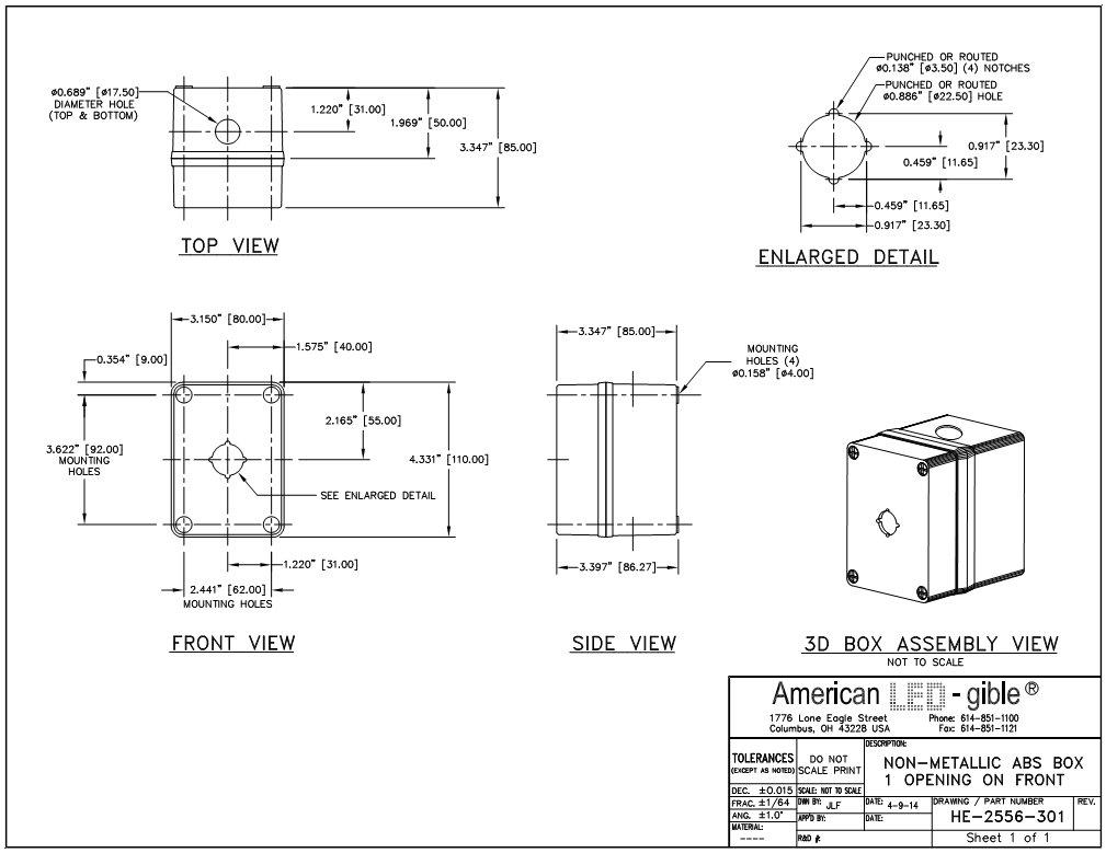 Amazon.com: 22 mm policarbonato Enclosure, Gris Claro, 1 ...