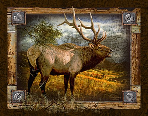 Ode-Rin Art Christmas Gift Prints Painting for Zoo Decor Modern Giclee Artwork Slogan of Caribou Picture on Canvas Wooden Frame and Strong Hook Inside Easy to Hang for Decoration