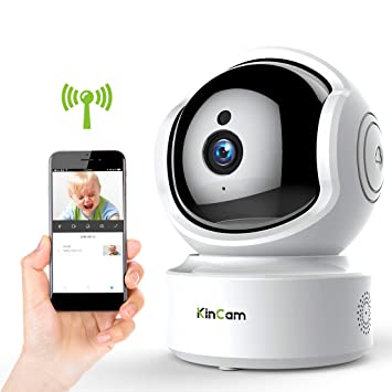 KinCam Cámara de Vigilancia Cámara de Seguridad Inalámbrica 1080P Cámara IP de Vigilancia Doméstica WiFi para Bebés/Personas Mayores/Mascotas/Niñeras ...
