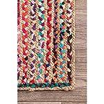 Fernish Decor Striped Carpet (Multicolour, Jute Cotton, 3 X 5 Feet)
