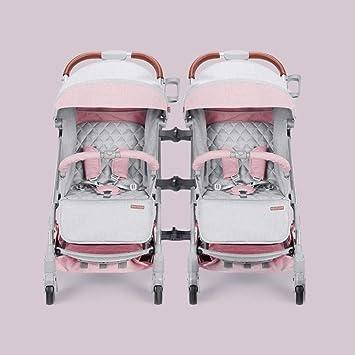Yunfeng Silla de Paseo Bebé Carro de Gemelos Cochecito Doble Segundo ...