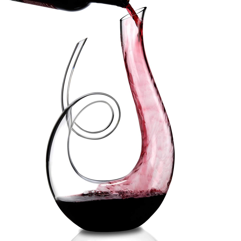 Wine Enthusiast Lead-Free Crystal Art Series Treble Wine Decanter by Wine Enthusiast