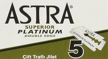 100-Count Astra Platinum Double Edge Safety Razor Blades