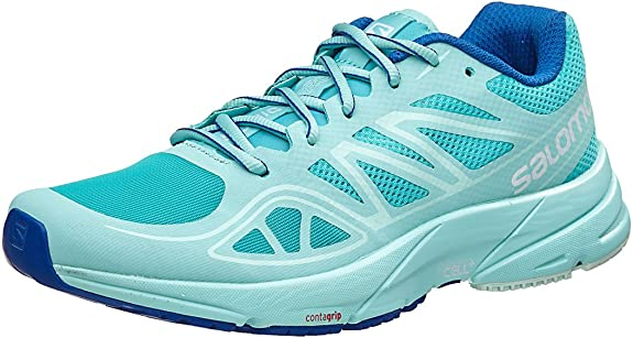 Salomon Sonic Aero W, Zapatillas de Trail Running para Mujer, (Ceramic/Aruba Blue/Nautical Blue), 43 1/3 EU: Amazon.es: Zapatos y complementos