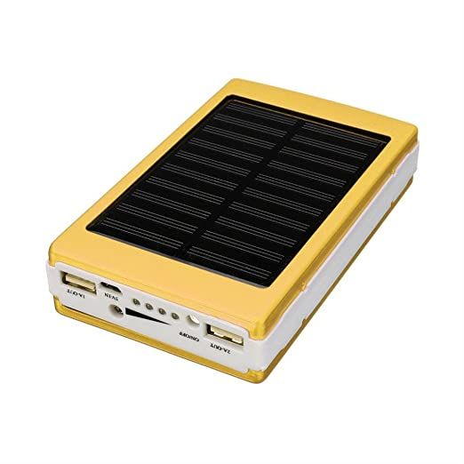 squarex Solar LED portátil Dual USB Power Bank externa 5 x ...
