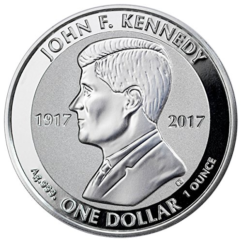 2017 VG 2017 British Virgin Islands John F Kennedy 1 oz Silver Reverse Proof $1 Coin $1 Gem - Silver 1 Gem Proof Oz