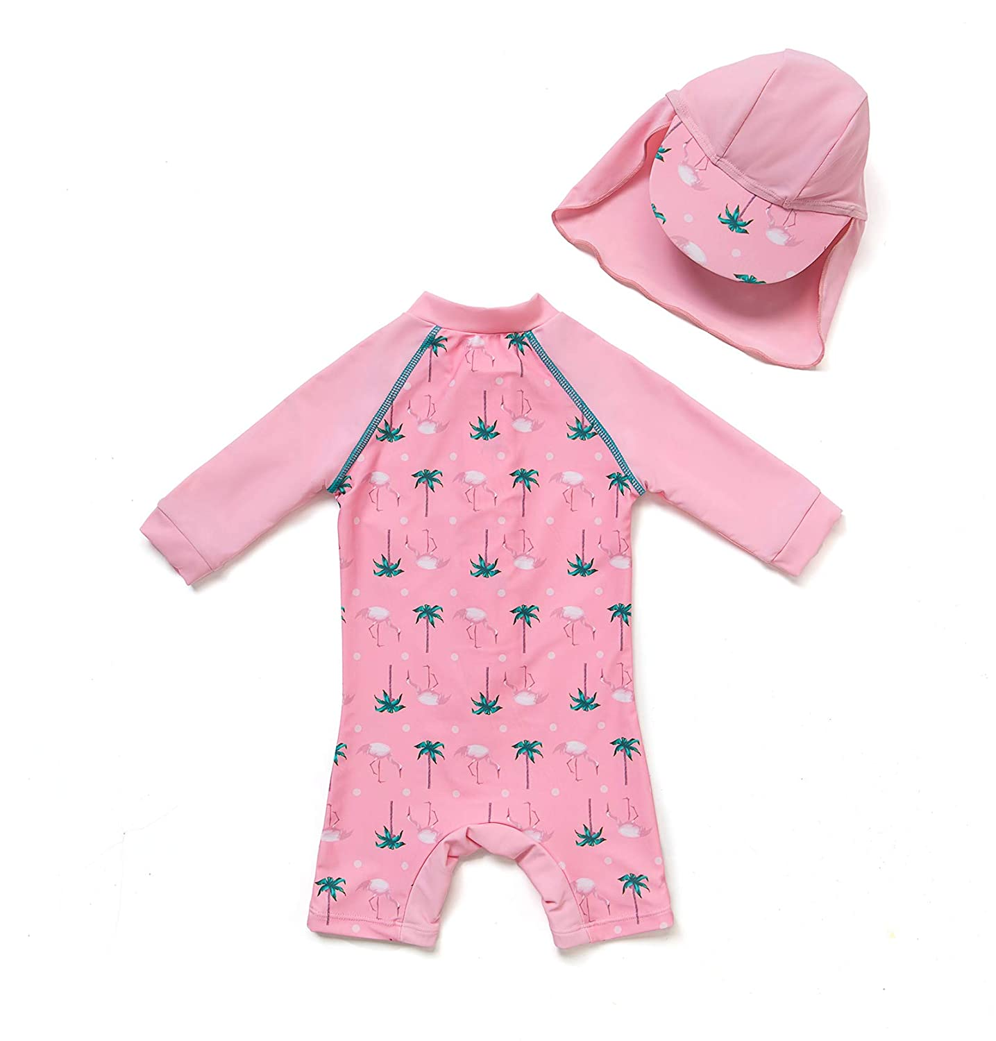 Baby//Toddler Girl One Piece Swimsuit with UPF 50 Sun Protection
