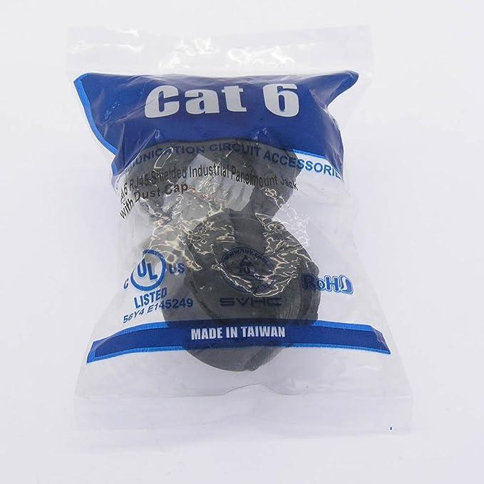 GOWOS 5 Pack Cat.6 RJ45 Shielded Industrial Panelmount Jack