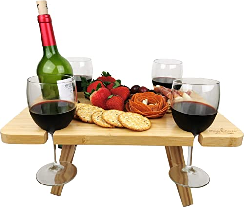 MIABEAU Portable Wine Picnic Table