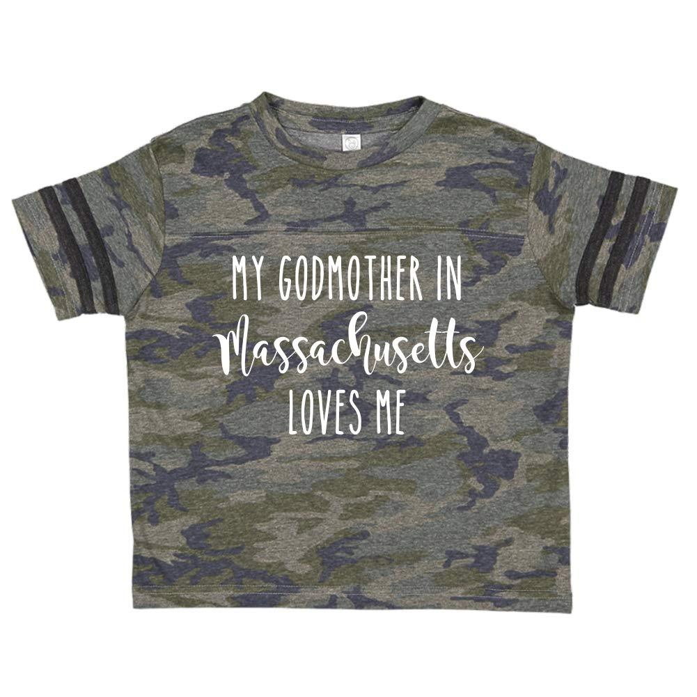 My Godmother in Massachusetts Loves Me Toddler//Kids Sporty T-Shirt