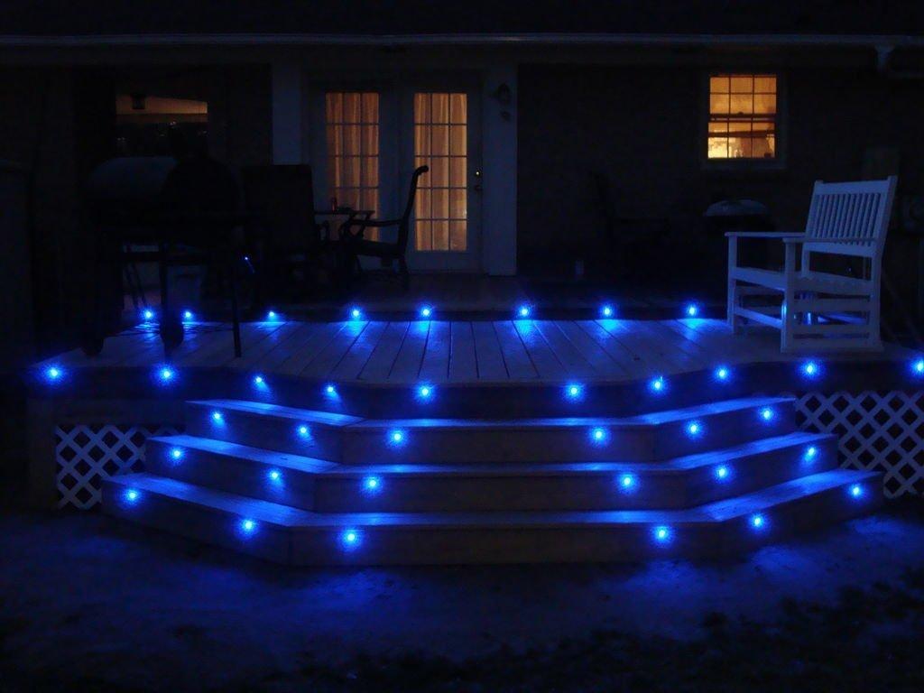Acier inoxydable IP67 DC12V 0.4W D/écoration Lumi/ère pour Terrasse Jardin Lot of 10 Mini /Ø18mm Spots Led Encastrable Ext/érieur Eclairage LED sous Sol Blanc Froid