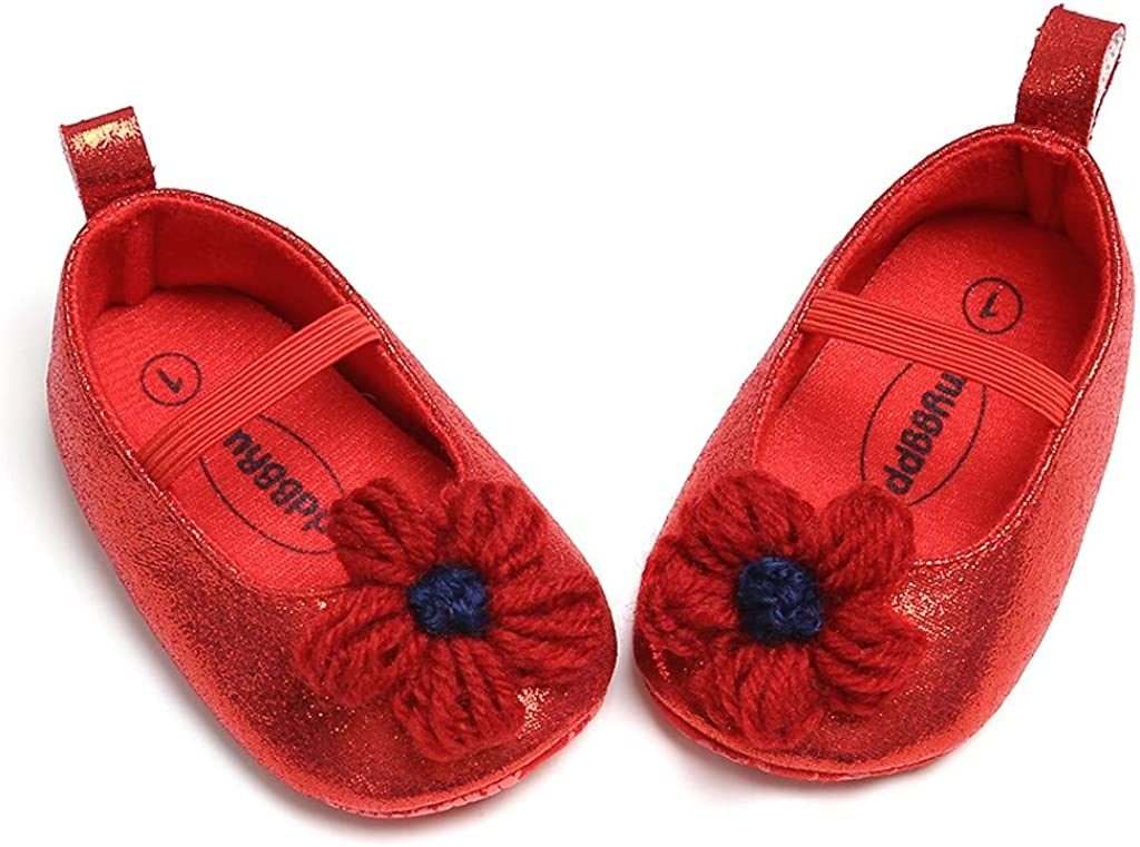 OUBAO Toddler First Walkers Kid Shoes Princess Shoes for Baby Girl Kids Children Flats Sandals Walkers Sneakers Dress Dance Flower Bling Cuty Fashion Shoes