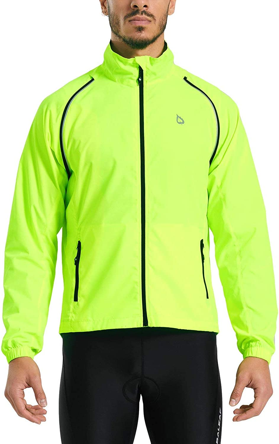 BALEAF Men's Cycling Jacket Vest Windproof Water-Resistant Coat Breathable Running Outdoor Sportswear : Clothing