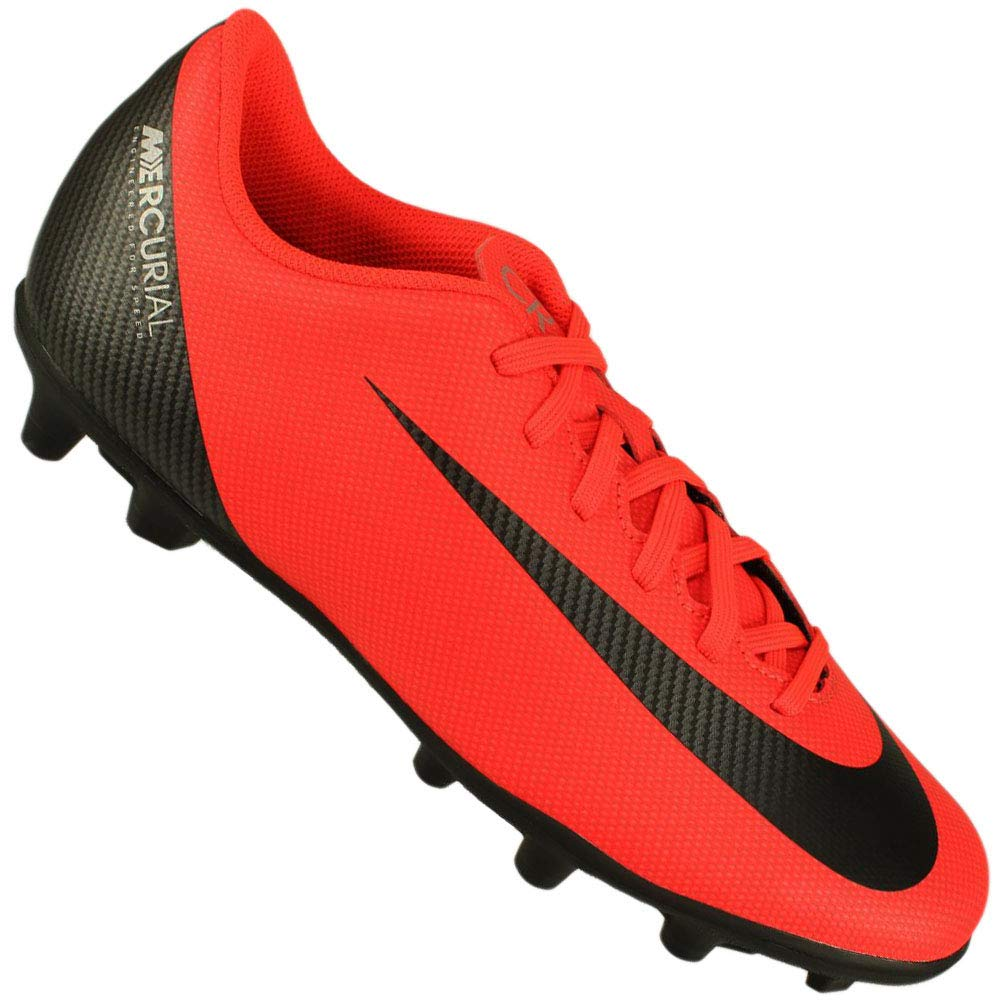 Nike Vapor 12 Club Cr7 Fg Mg - Bright Crimson schwarz-Chrome - Fussball-Nocken-Schuhe (FG)-Herren