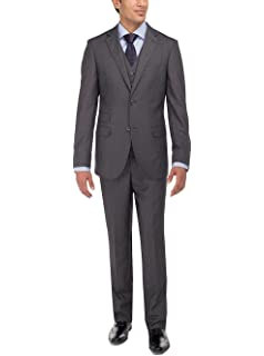 3dc7af7f47c5d8 LN LUCIANO NATAZZI Men's Tweed Vested Suit Set Two Button Modern Fit Three  Piece