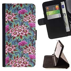 Momo Phone Case / Flip Funda de Cuero Case Cover - Fondo de pantalla de pintura de arte de época - Sony Xperia Z2 D6502