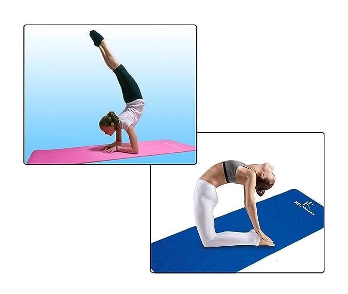 Fitness Yoga mat HD Fitness, ideal para pilates,Yoga, fitness , dimensiones:180cm*61cm,Espesor 0.8mm: Amazon.es: Deportes y aire libre