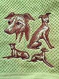Italian Greyhound Kitchen Tea Towel