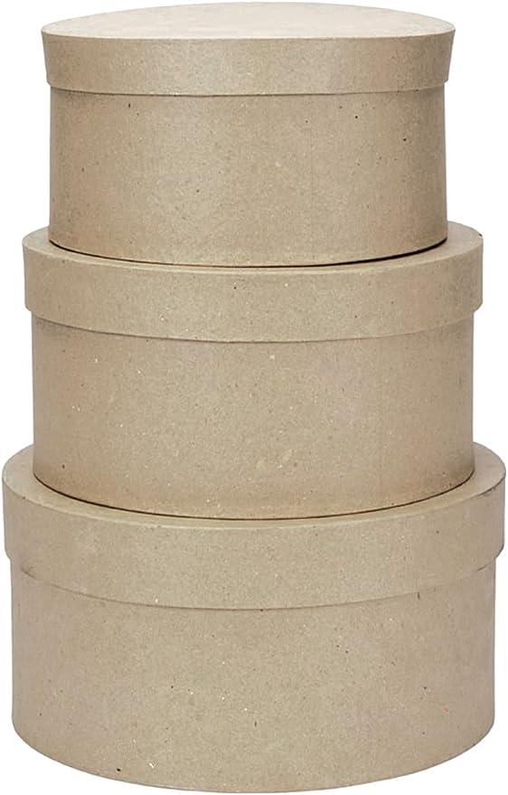 Darice – Plantilla para Grabar en Relieve Paper-Mache Caja Redonda de cartón -4-Inch, 12,7 y 15,2 cm: Amazon.es: Hogar