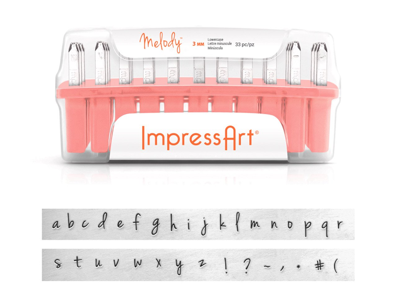 Impress Art 3mm Melody Font 75 pc. Full Full Full Stamp Collection for Stamping B07J3YBKL1 | New Product 2019  7c3f4a