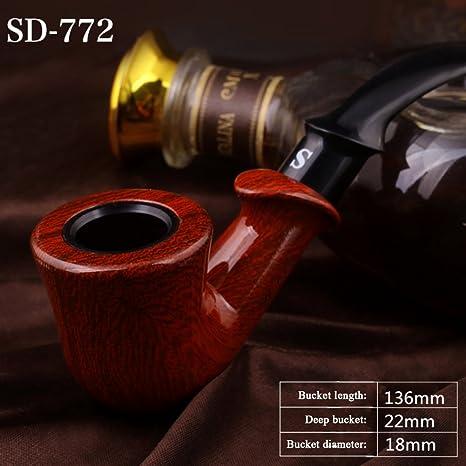 Amazon.com: Pipa de fumar, hecho a mano madera pipa de ...