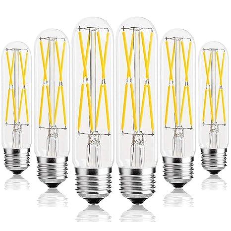 Amazon.com: Leools Bombilla tubular LED Edison T10,E26 de 8 ...