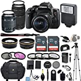 Canon EOS Rebel T6i DSLR Camera with Canon EF-S 18-55mm f/3.5-5.6 IS STM Lens and Canon EF 75-300mm f/4-5.6 III Lens +...