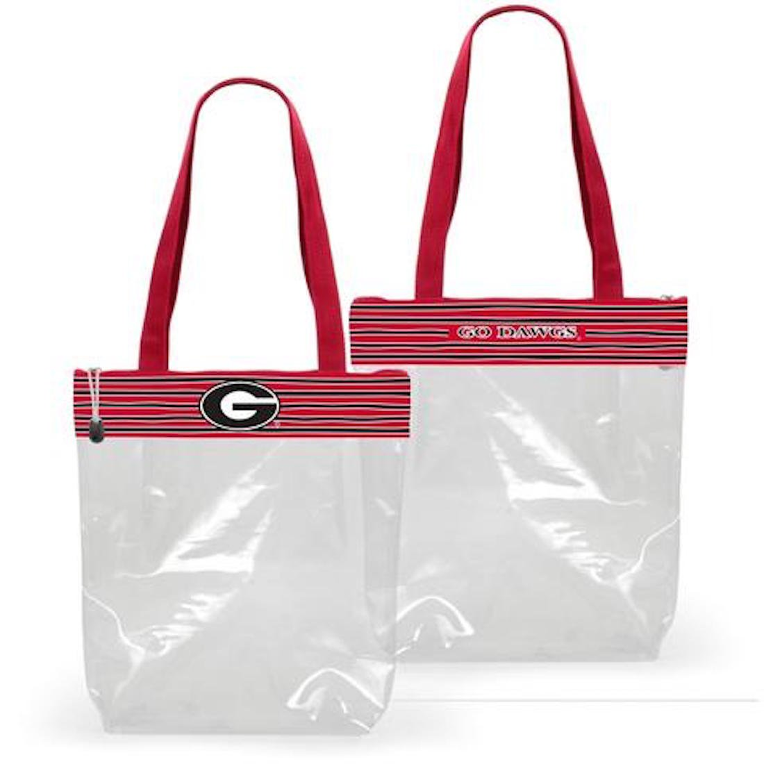 Desden Georgia Bulldogs Clear Gameday Stadium Tote Bag