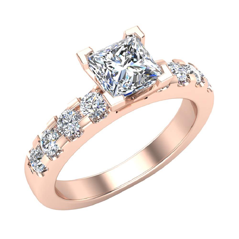 e22c76c23cbe8 1.25 Carat Princess Cut 14K Gold Solitaire Diamond Engagement Ring ...