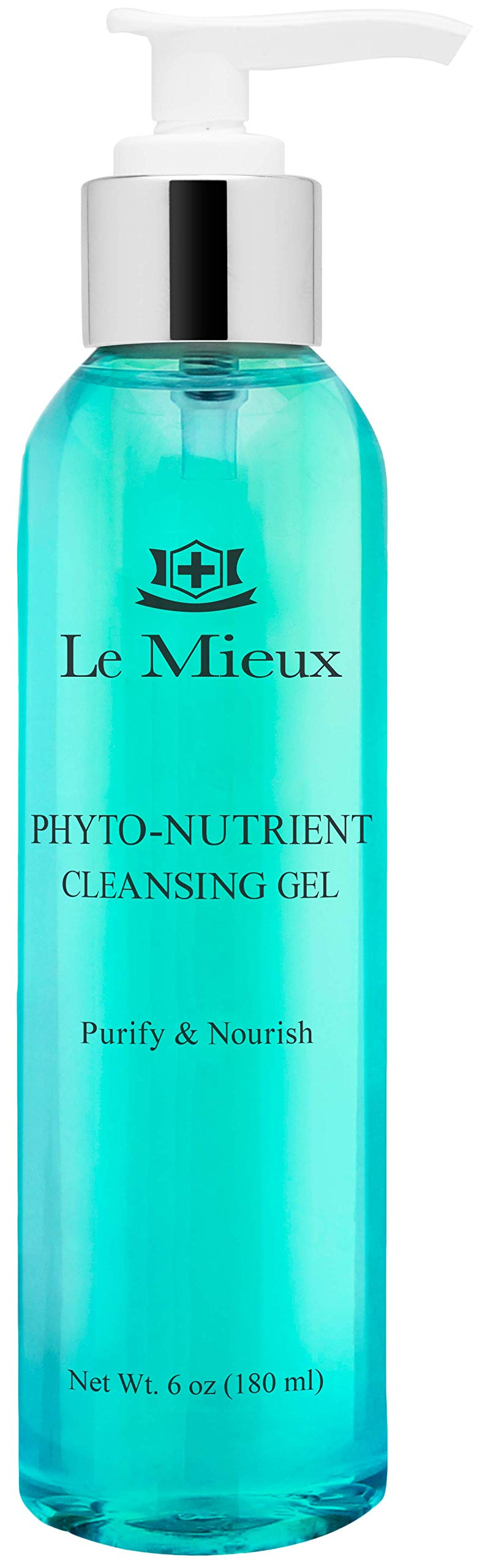 Le Mieux Phyto-Nutrient Cleansing Gel - Purifying, Foaming Face Wash with Algae & Arnica (6 oz / 180 ml)
