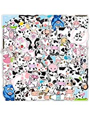 50pcs Cute Cow Stickers Waterproof Vinyl Decals for Water Bottles Car Window Laptop Wall Door Scrapbooking Phone Case Wedding Resin Hydroflask Truck Tumblers Crafts Kitchen