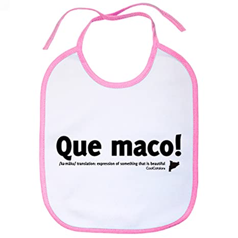 Babero que maco Cool Catalans - Blanco: Amazon.es: Bebé